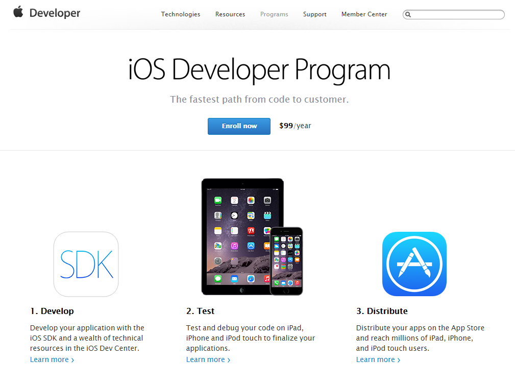 01 Enroll now iOS Developer Program
