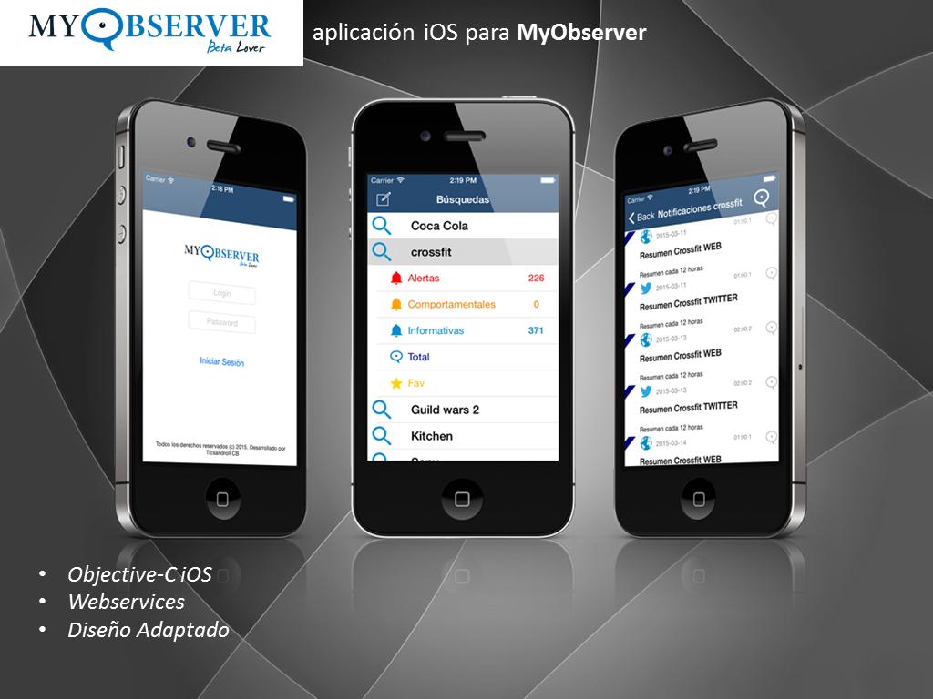 Aplicación iOS para MyObserver.