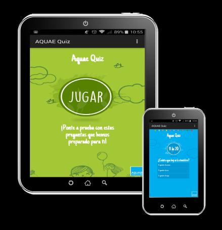 La aplicación de preguntas y respuestas sobre el medio ambiente para la Fundación Aquae.